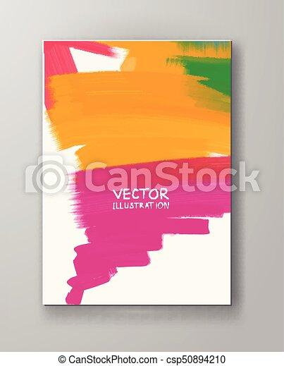 bannière, coloré, clair, vecteur, fait, taches - csp50894210