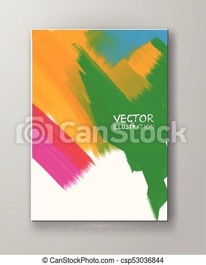 bannière, coloré, clair, vecteur, fait, taches - csp53036844