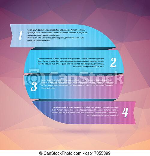bannière, conception, gabarit - csp17055399