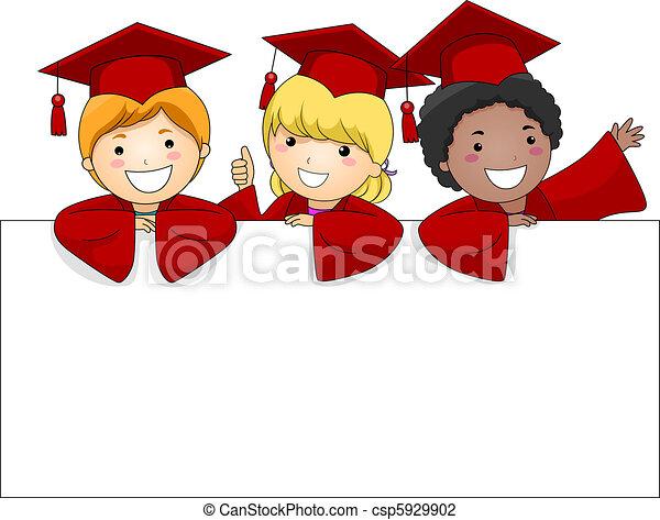 bannière, diplômé - csp5929902