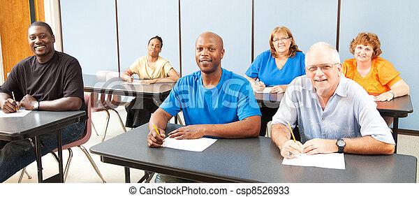 bannière, -, education, diversité, adulte - csp8526933