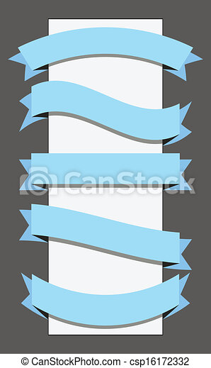 bannière, gabarit, ruban - csp16172332