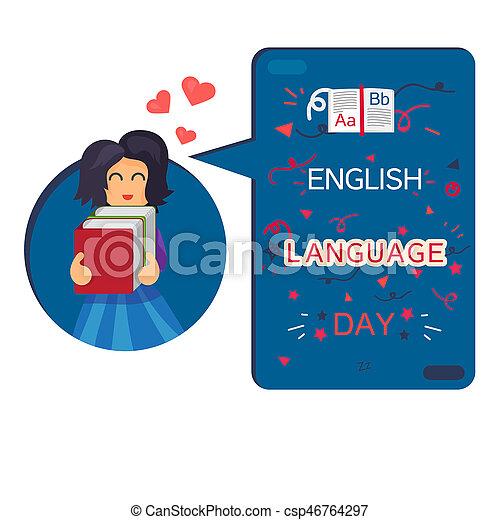 bannière, jour, langue, anglaise - csp46764297