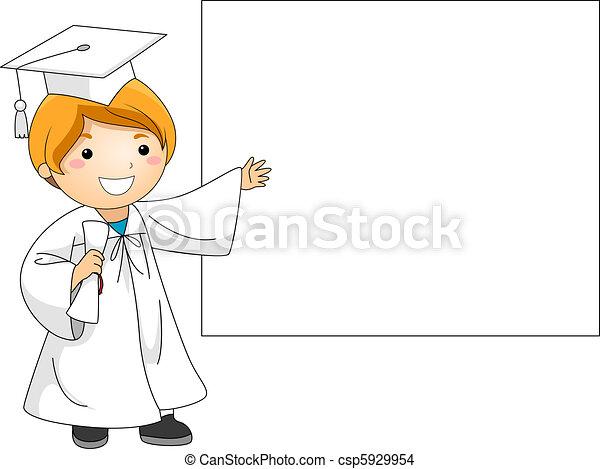 bannière, remise de diplomes - csp5929954