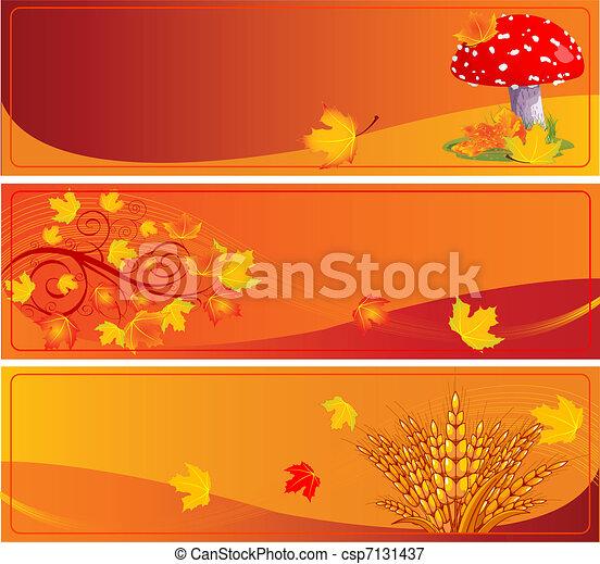 bannières, automne - csp7131437