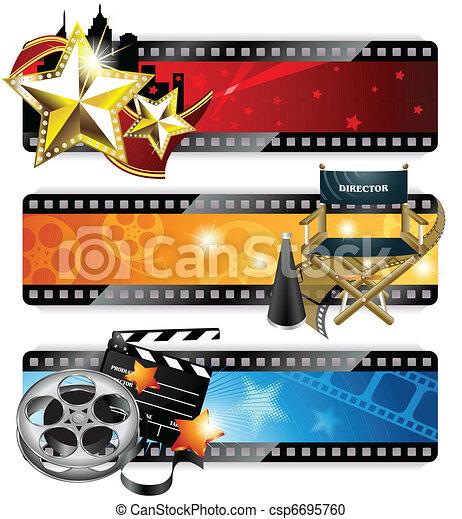 bannières, cinéma - csp6695760