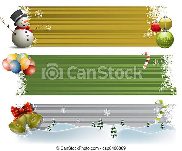 bannières, decorational - csp6406869