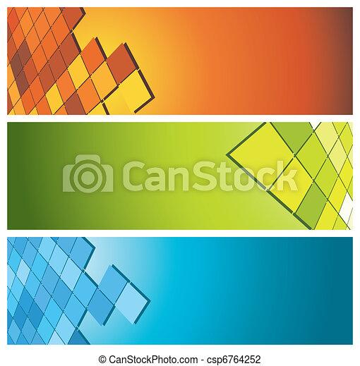 bannières, (headers), coloré - csp6764252