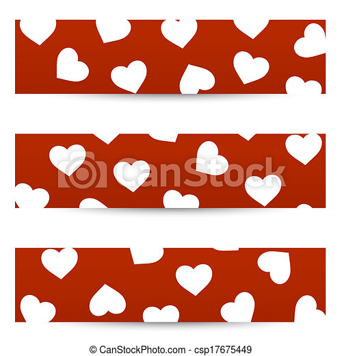 bannières, seamless, valentin - csp17675449