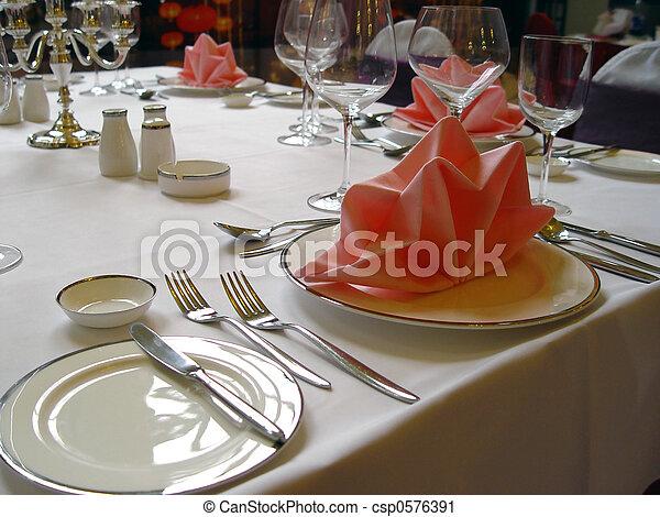 BANQUET TABLE - csp0576391