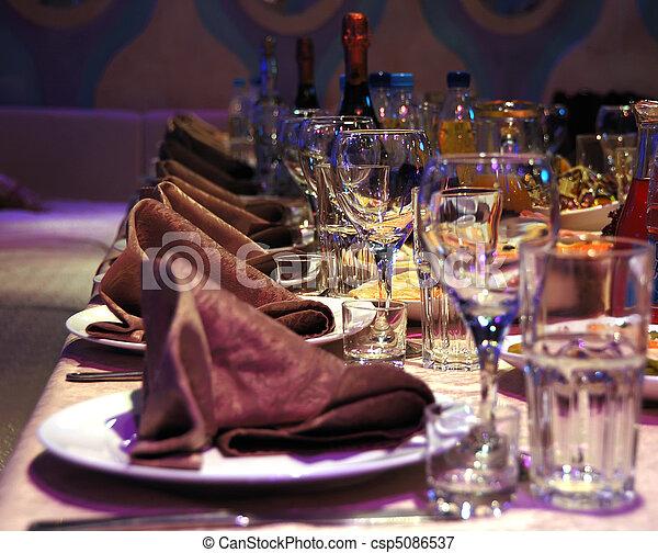 banquet table - csp5086537