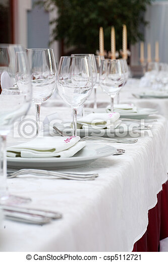 Banquet table - csp5112721