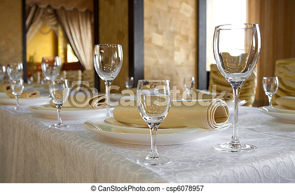 Banquet table - csp6078957