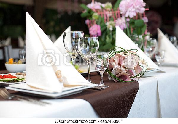 Banquet table - csp7453961
