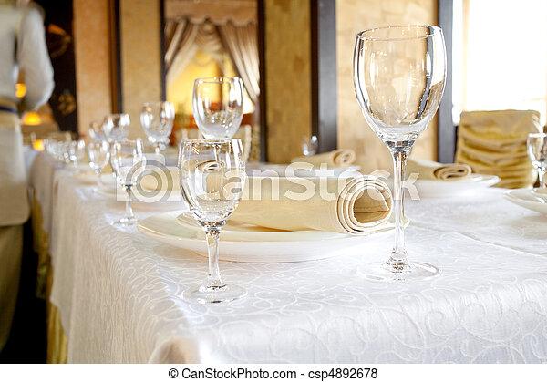 Banquet table - csp4892678