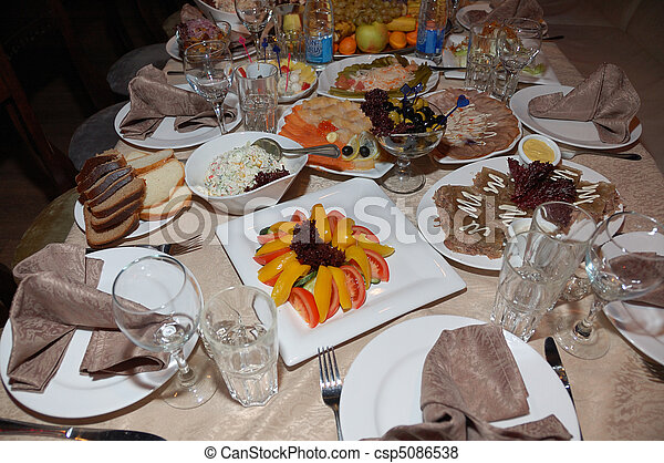 banquet table - csp5086538
