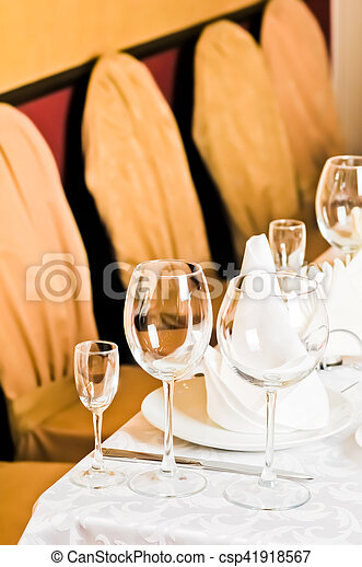Banquet table - csp41918567