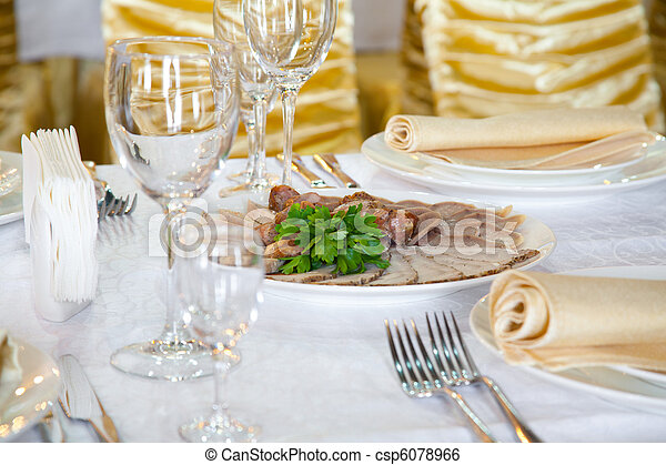 Banquet table - csp6078966