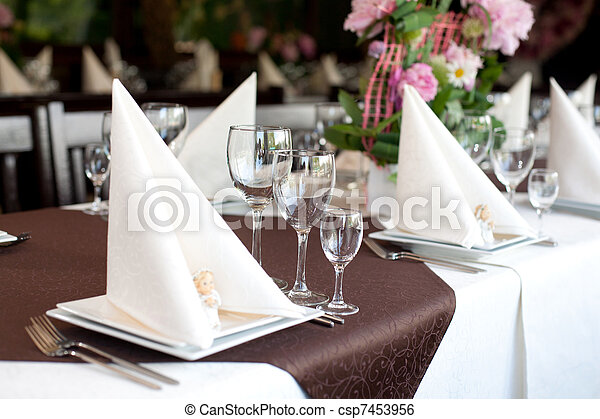 Banquet table - csp7453956