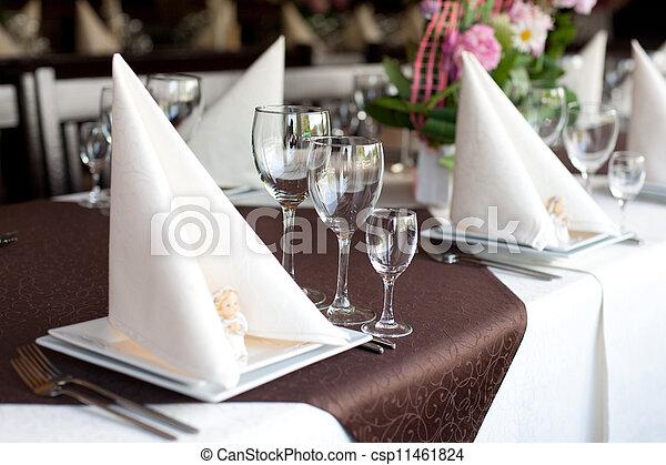 Banquet table - csp11461824
