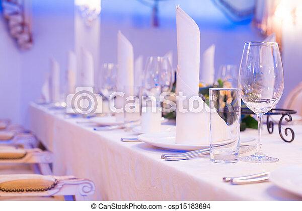 Banquet table - csp15183694