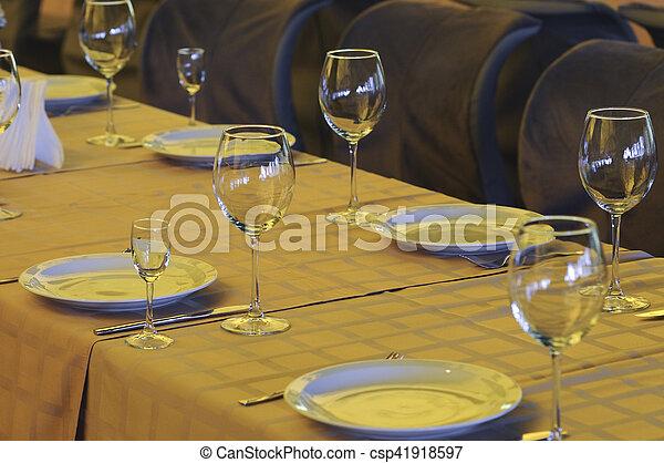 Banquet table - csp41918597