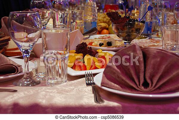 banquet table - csp5086539