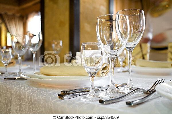 Banquet table - csp5354569