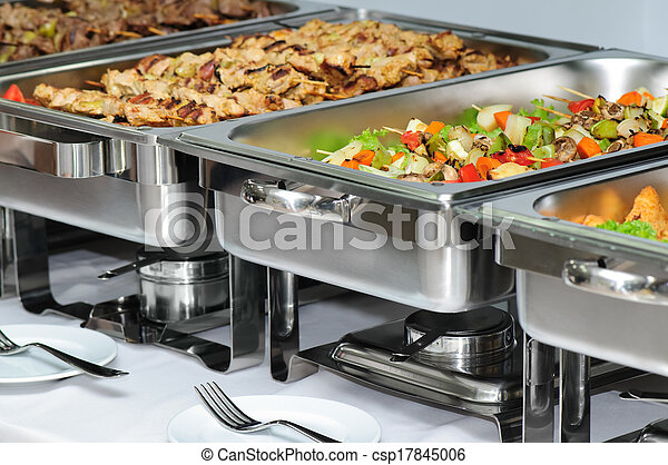 banquet table  - csp17845006
