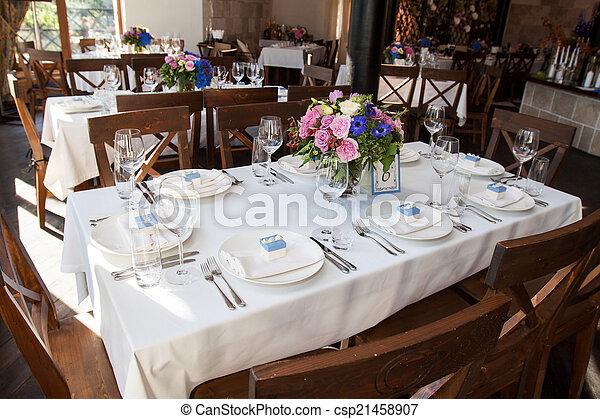 banquet table - csp21458907