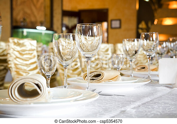 Banquet table - csp5354570