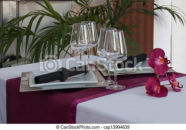 Banquet table - csp13994639