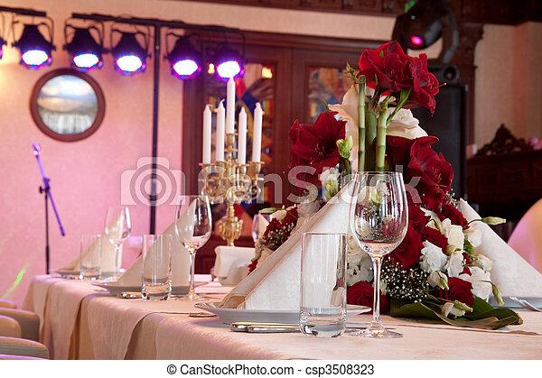 BANQUET TABLE - csp3508323