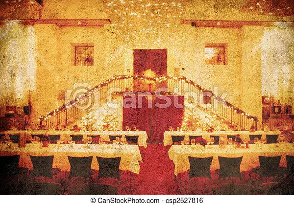 Un banquete de bodas - csp2527816