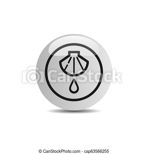 Baptism icon in a button on a white background - csp63566255