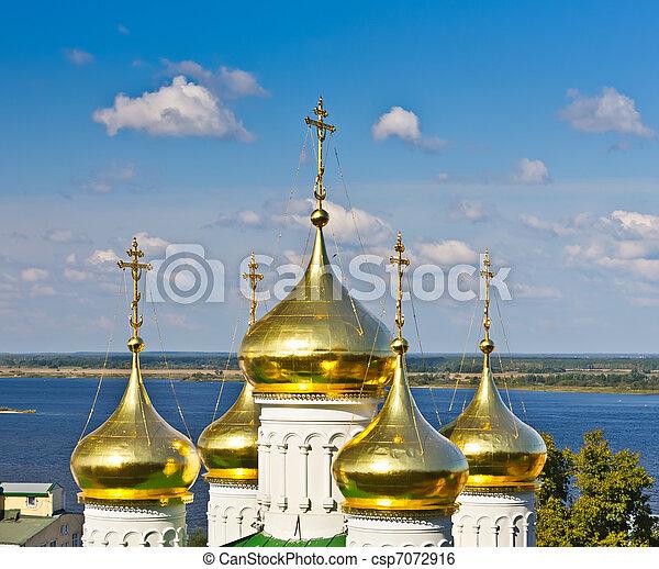 baptist, nizhny novgorod, kirche, john, russland - csp7072916