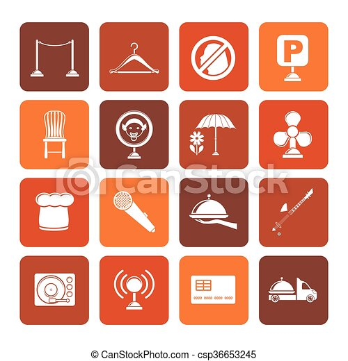 bar and night club icons - csp36653245