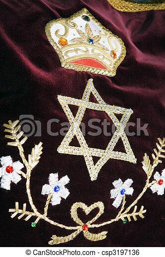 Bar Bat itzvah religious symbol, decoration ornament - csp3197136