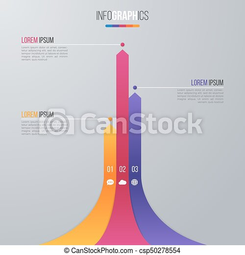 Bar Chart Infographic Template For Data Visualization With 3 Options