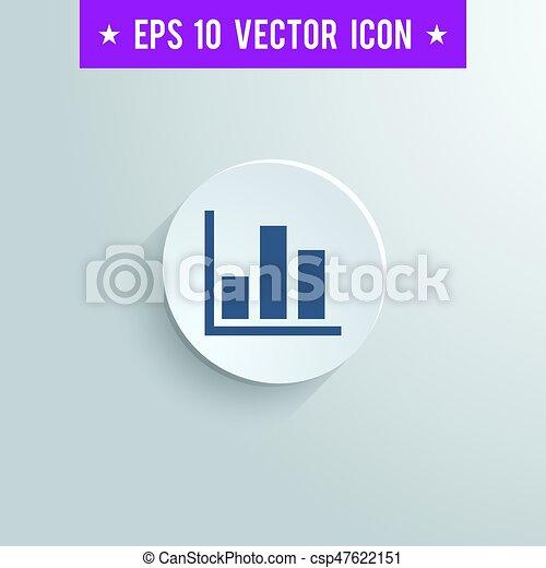 bar chart symbol icon on gray shaded background stylish bar chart rh canstockphoto com