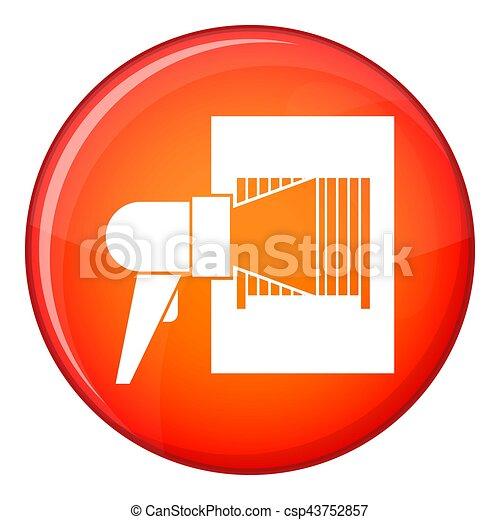 Bar code on cargo icon, flat style - csp43752857