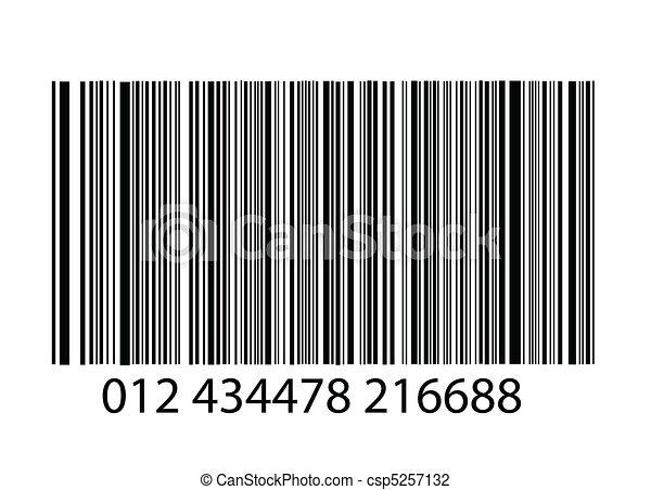 bar-code on white background - csp5257132
