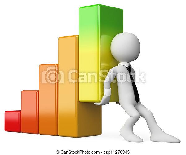 bar, firma, graph, folk., hvid, økonomi, 3 - csp11270345