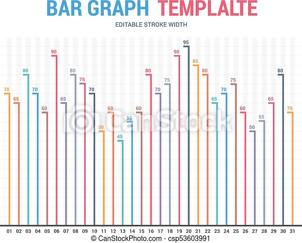 Bar Graph Template, Business Infographics, Vector Eps10  Eps