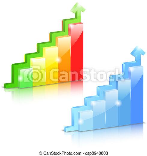 Bar graphs with arrow - csp8940803