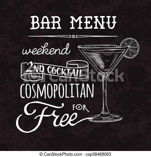 Bar menu of cocktail proposal - csp38468063