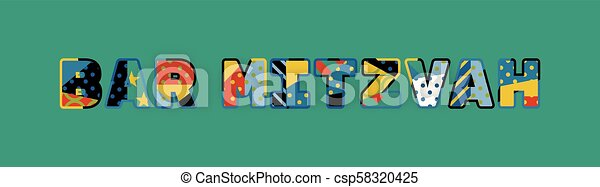 Bar Mitzvah Concept Word Art Illustration - csp58320425