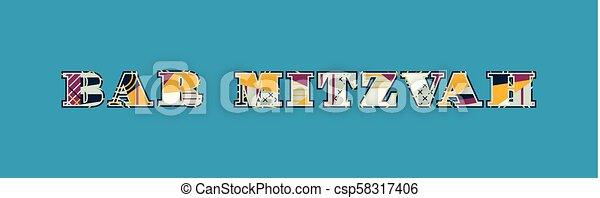 Bar Mitzvah Concept Word Art Illustration - csp58317406