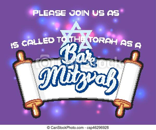 Bar Mitzvah invitation card - csp46296928