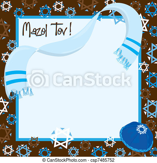 Bar Mitzvah Party Invitation - csp7485752